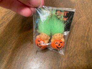 Vintage Russ Trick or Troll Earrings - Troll in Pumpkins