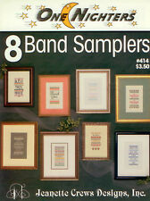 8 Band Samplers Cross Stitch Pattern - Jeanette Crews Designs - One Nighters