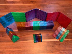 Magna Tiles - 121 piece set --- Magnetic Tiles, Clear Colors, Various Shapes