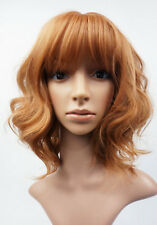 W102 mix di Zenzero lunghezza spalla Parrucca Ondulata Donna Aspetto Naturale