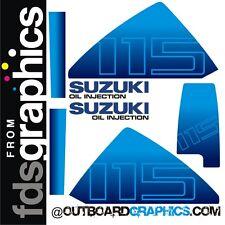 SUZUKI dt115hp FUORIBORDO MOTORE GRAFICHE/kit adesivi