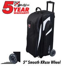KR Strikeforce Cruiser Smooth Black/White 3 Ball Roller Bowling Bag