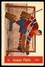 1957-58 PARKHURST JACQUES PLANTE MONTREAL CANADIENS #15 (02) JM