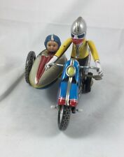 MOTORCYCLE with SIDECAR, Wind up Tin Toy,MS-709, #605,Made in China, Complete