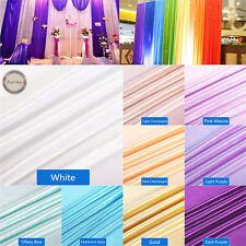 Silky Soft Satin Sheer Curtain Fabric Drape Voile Dress Wedding Party Decoration