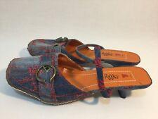 I ❤️ Billy Women's Size 8 / EUR 39 / UK 6 🎁 Denim Half Kitten Heels Shoes 👌