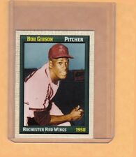 Bob Gibson '58 Rochester Red Wings & Harlem Globetrotters Superior Card Co.