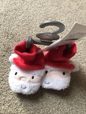 Mothercare Santa Father Christmas Newborn Baby Booties Cute Size 00