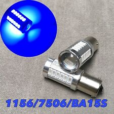 Rear Signal Light 1156 BA15S 7506 3497 P21W 33 SMD LED Blue bulb for Toyota