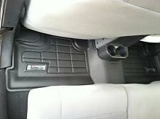Second Row Black Floor Mat for a 2007 - 2013 Jeep Wrangler Unlimited