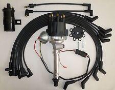 Small Cap CHEVY CORVETTE Tach Drive 396-454 BLACK Distributor +Black Coil +wires
