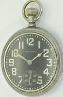 Rare USA Waltham WWII military Navy black dial pocket watch.Perfect working