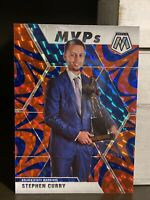 2019-20 Mosaic STEPH CURRY Blue Reactive MVP Insert Prizm Refractor, SP Warriors
