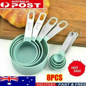 8pcs Stainless Steel Measuring Cups Spoons Kitchen Baking Cooking Tools Set BZ