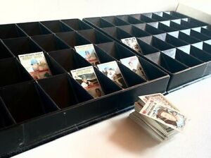 Baseball Card Sorting Trays (2) Great for Shows, Breaks & Sorting Trading Cards
