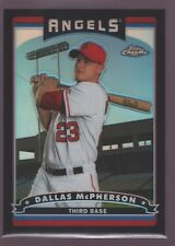 DALLAS MCPHERSON /549 ANGELS ROOKIE BLACK REFRACTOR MINT RC SP 2006 TOPPS CHROME
