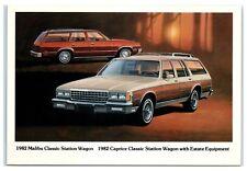 1982 Chevy Malibu Classic Station Wagon & Caprice Classic Station Wagon Postcard