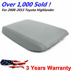 For 2008-2013 Toyota Highlander Leather Center Console Lid Armrest Cover Gray Us