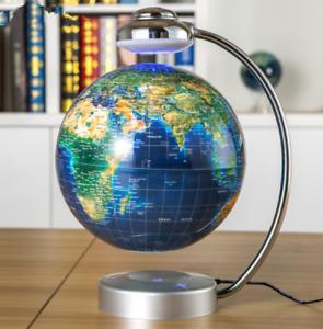 "8"" Anti Gravity Floating Globe LED Light Magnetic Levitation Globe Map"