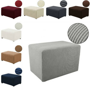Stretch Sofa Pedal Cover Ottoman Elastic Polyester Slipcover Living Room Home