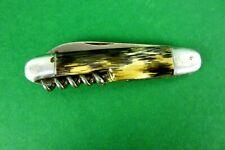 altes Taschenmesser Herrenmesser mit Griffschale in Hirschhorn Optik 9 cm