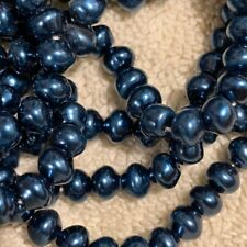 VTG 1 HANK BLUE MATTE MIX COLOR GLASS SEED BEADS CZECH11//0  #061212g