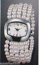 Discontinued Pearlesque Multi Strand Stretch Watch 2010 Avon