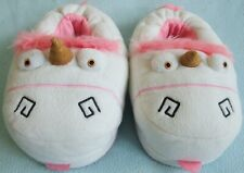 Girls Despicable Me 3 Fluffy Unicorn Novelty Soft 3D Plush Slippers Sizes 8-13