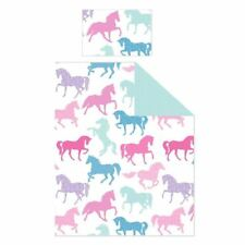 PATCHWORK PONIES JUNIOR COT BED DUVET COVER SET PONY HORSE NEW GIRLS