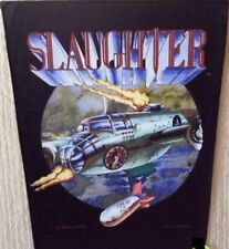 SLAUGHTER  vintage printed  backpatch 1990