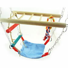 Pet Hamster Mouse Gerbil Cage Accessory Hanging Suspension Bridge Toy Swing 1PCS