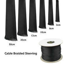 Hot Size Black Conduit Wire Harness Protects Sleeve Audio Video Cable Assemblies