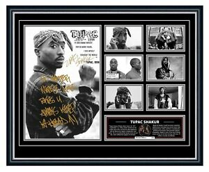 TUPAC SHAKUR 2PAC ALL EYEZ ON ME SIGNED LIMITED EDITION FRAMED MEMORABILIA