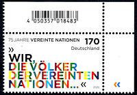 3549 postfrisch Ecke Eckrand rechts oben BRD Bund Deutschland Jahrgang 2020