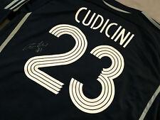 Chelsea CARLO CUDICINI Signed Autograph Soccer Jersey LA Galaxy Tottenham GK