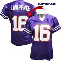 Custom Womens Blinged Football Purple Jersey,Trevor Lawrence