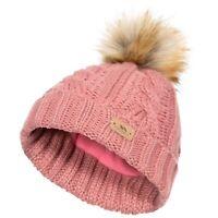 Trespass Ashleigh Girls Bobble Beanie Hat With Fleece For Winter