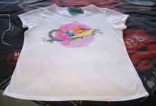Adventure Time Ladies White Short Sleeve Printed T Shirt Size XL New
