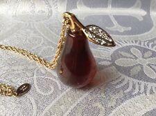 KJL Kenneth Jay Lane Brown Pear Pendant Necklace