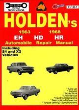HOLDEN EH HD HR WORKSHOP REPAIR MANUAL BRAND NEW S4 X2 186S 179 RED MOTOR