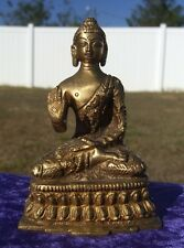 BUDDHA Abhaya Mudra Dhyani 5th STATUE of PROTECTION Big Heavy Brass Sitting