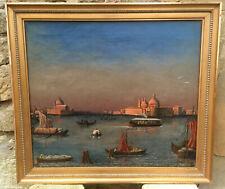 Venedig Öl LWD um 1920 Monogrammiert