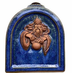 Stonebridge Wizards Stoneware Aromatherapy Bottle Jar England Bright Blue Glaze