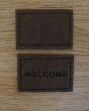 Dolls House Miniature 1:12th Scale Bristle Welcome Mat Set