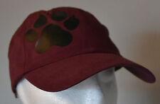 SIBERIAN HUSKY PAW PERSONALISED BURGUNDY BASEBALL CAP HAT SLED DOG DOGS HUSKIES