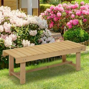 Outsunny Outdoor Garden Bench Patio Loveseat Fir Solid Wood Water-Resist - 1.1m