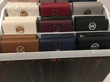 NWT MICHAEL KORS MK Signature Fulton Flap Continental Wallet Authentic $178
