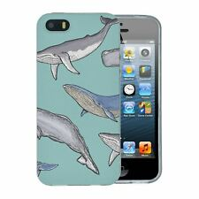 For Apple iPhone 5 5S Silicone Case Whale Pattern - S2851