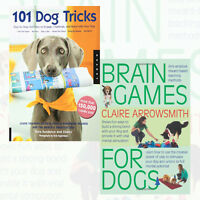 Brain Games For Dogs,101 Dog Tricks 2 Books Collection Set Paperback Brand New
