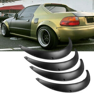 "For Honda Civic 5.3"" Wheel Arches Fender Flares Extra Wide Body Kit Black 4 pcs"